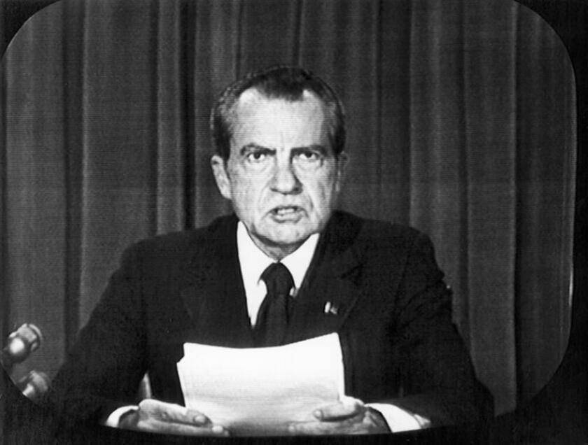 Fotografía de archivo del expresidente estadounidense Richard Nixon. EFE/Archivo