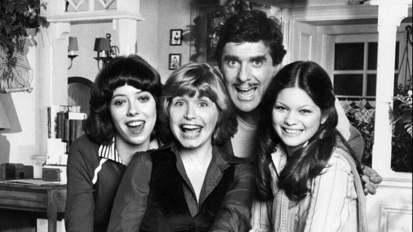 la-me-harrington -- file photo -- ' ONE DAY AT A TIME ' cast members, left to right: Mackenzie Phil