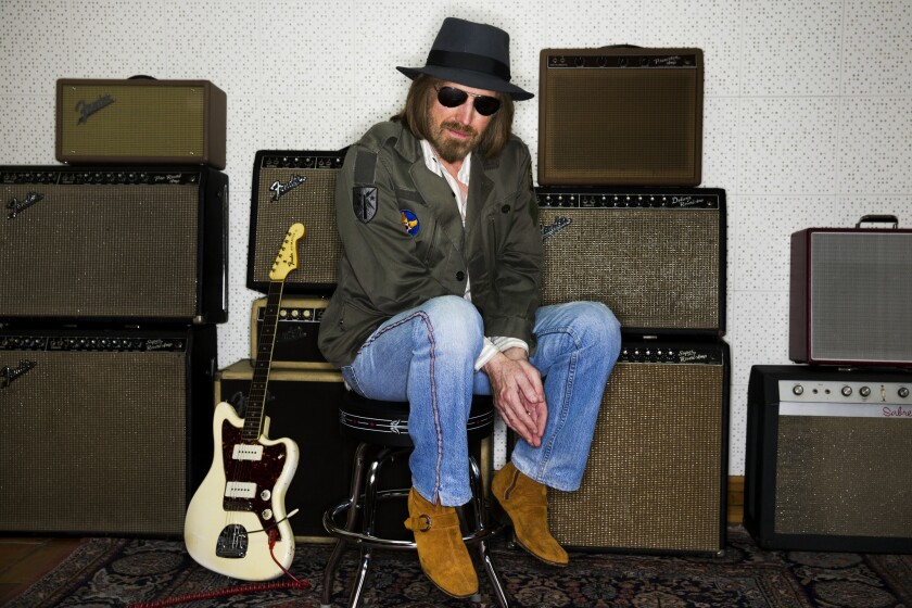 Tom Petty in the studio of his Los Angeles-area home, June 30, 2014.