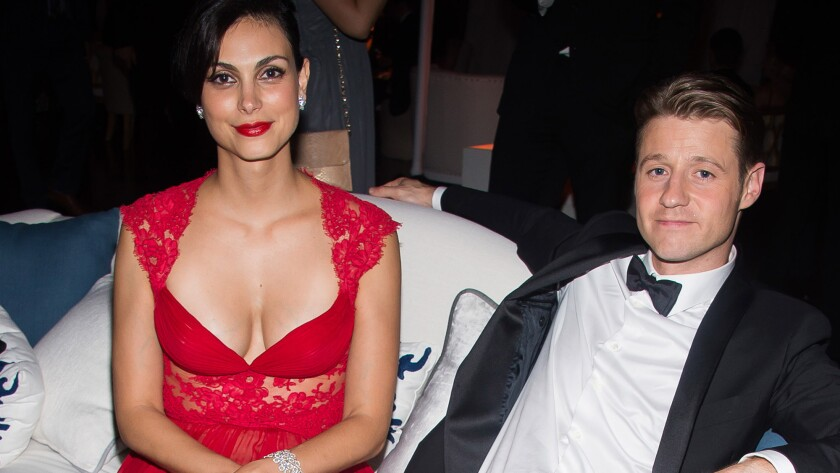 Morena Baccarin and Benjamin McKenzie attend the Fox/FX Emmy Awards after party on Sept. 20, 2015, in Los Angeles.