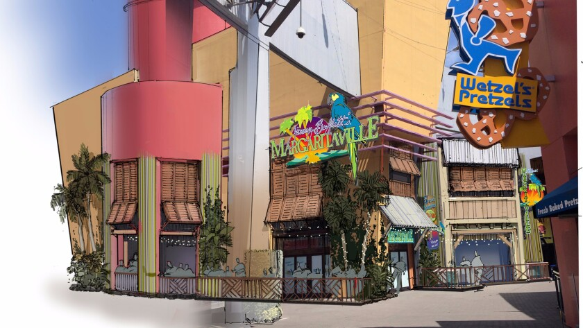 Jimmy Buffett's Margaritaville is replacing a bowling alley as part of an overhaul at City Walk.