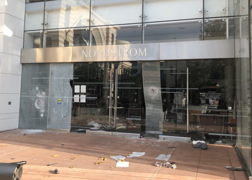 Nordstrom at the Grove after looting