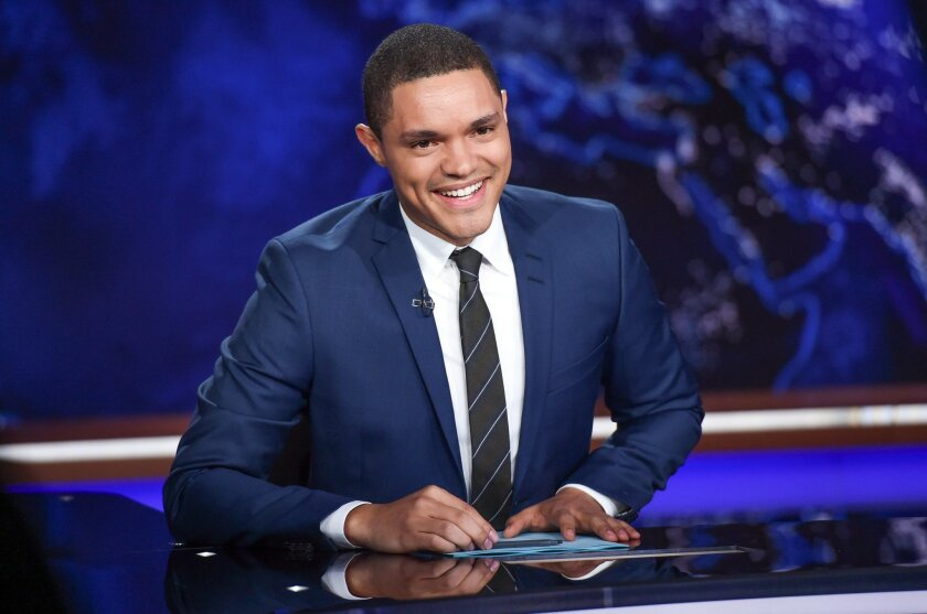 """FILE - In this Sept. 29, 2015 file photo, Trevor Noah appears on set during a taping of """"The Daily Show with Trevor Noah"""" in New York. Comedy Central says """"Daily Show"""" host Trevor Noah underwent an emergency appendectomy Wednesday, Nov. 4. The procedure went well and Noah was expected back on the s"""