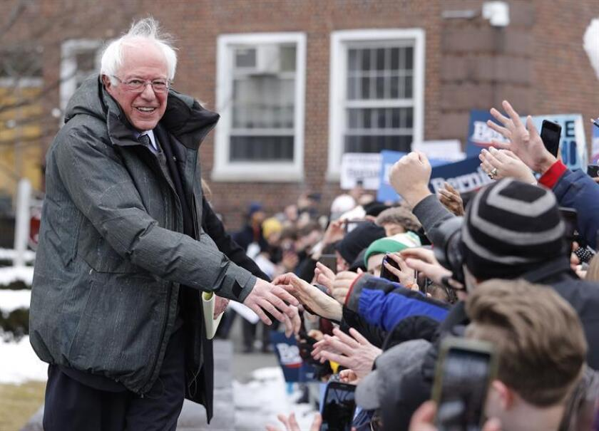 Independent US Sen. Bernie Sanders gets his campaign up and running on March 2, 2019, in New York for the Democratic Party primaries before thousands of followers and vows to defeat President Donald Trump, whom he described as very dangerous for the nation. EFE-EPA/Justin Lane