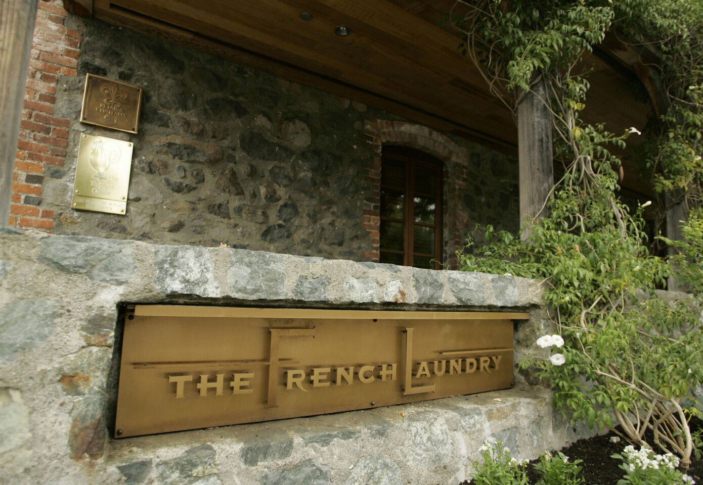 The exterior of the French Laundry restaurant in Yountville, Calif.