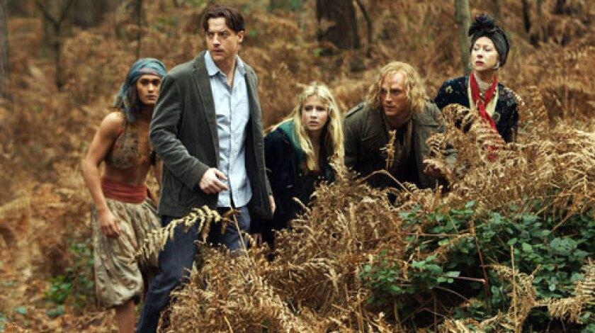 ON THE RUN: Rafi Gavron, left, Brendan Fraser, Eliza Hope Bennett, Paul Bettany and Helen Mirren.