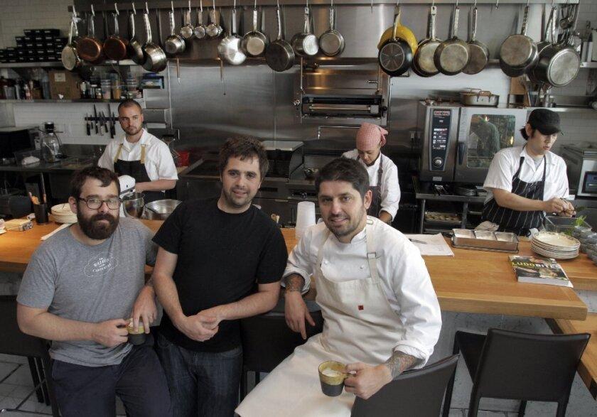 Vinny Dotolo, Jon Shook and Ludo Lefebvre open Trois Mec this week.