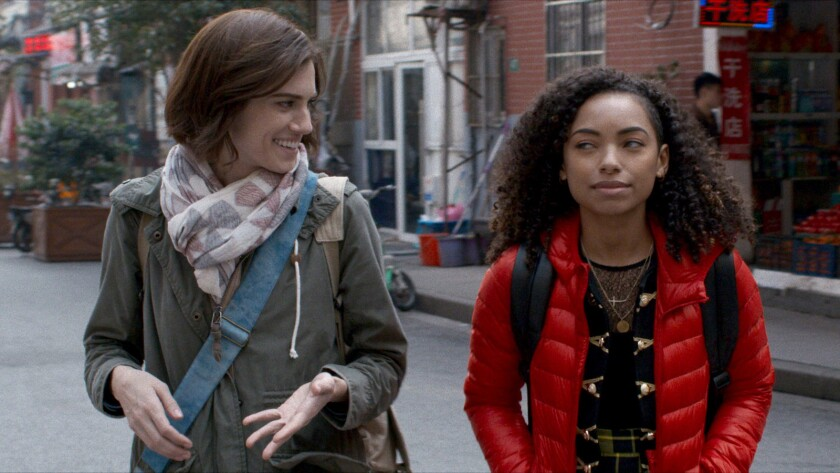 "Allison Williams and Logan Browning in a scene from ""The Perfection."" Credit: Netflix"