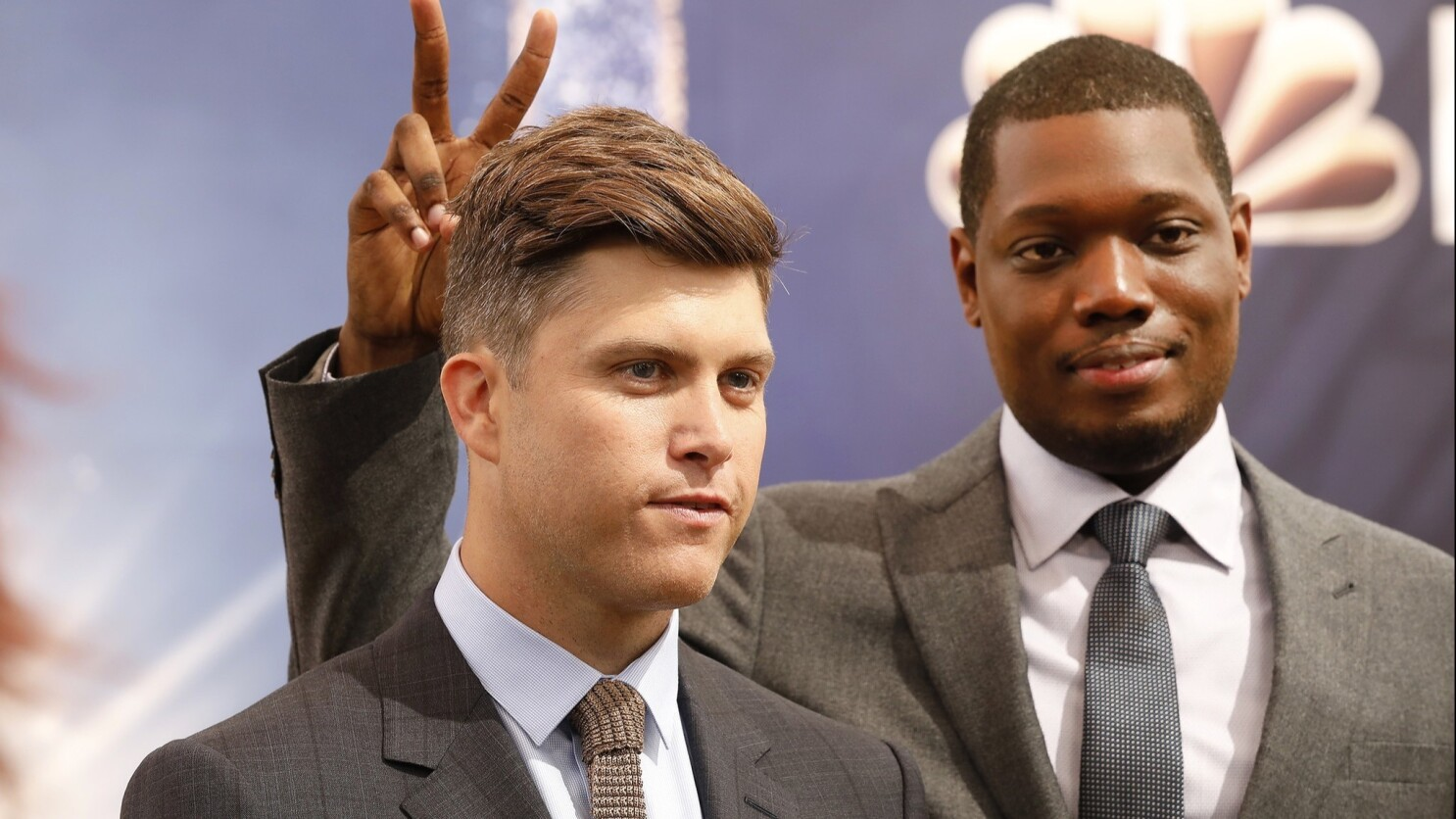 Hosting The First Emmys Of The Metoo Era Colin Jost And Michael Che Have A Lot To Prove Los Angeles Times