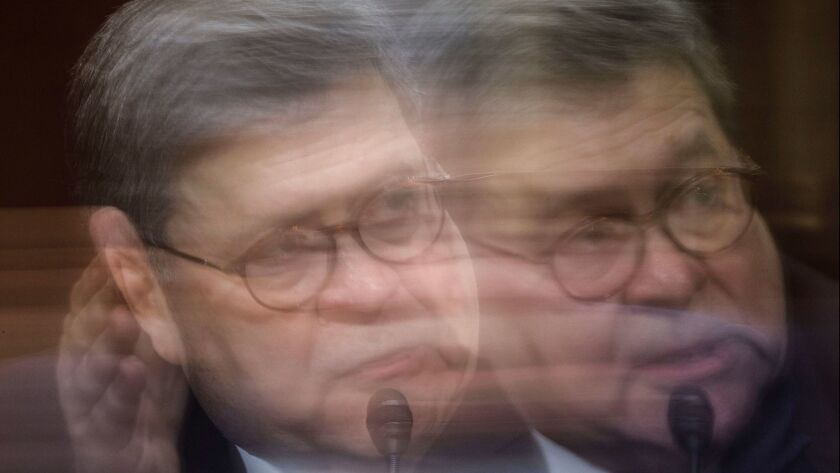 US Attorney General William Barr testifies before the Senate Judiciary Committee's hearing on 'The Justice Department's Investigation of Russian Interference with the 2016 Presidential Election', Wa