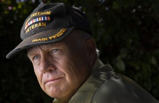 U.S. Army Chaplain Col. Robert Blessing (Ret.), an Episcopal priest, suffers from PTSD after two combat tours in Iraq. He helps other combat veterans as part of his healing process. Photographed at his Rancho Penasquitos home, November 7, 2019, in San Diego, California.