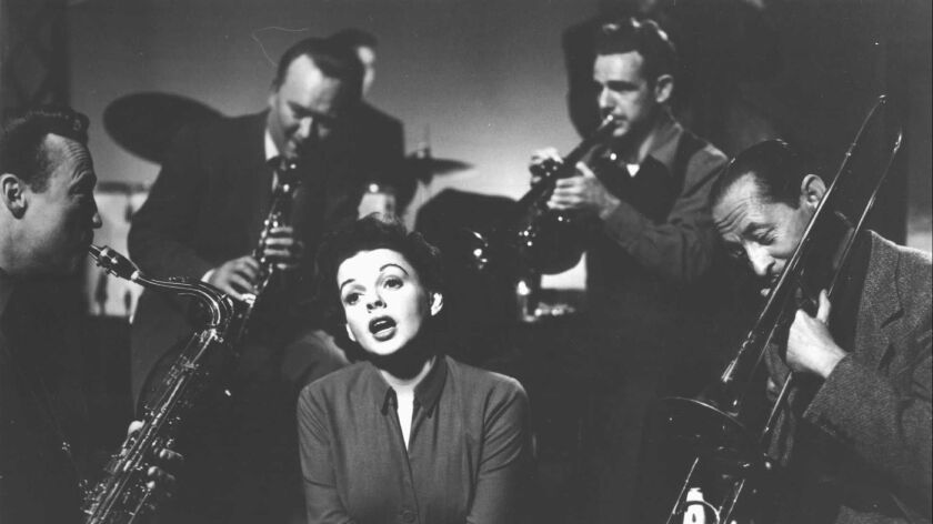 Judy Garland stars in the movie, A Star Is Born.