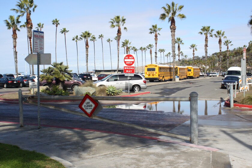 Open during the day, these gates at Kellogg Park in La Jolla Shores are scheduled to be closed from 10 p.m. to 4 a.m. nightly.