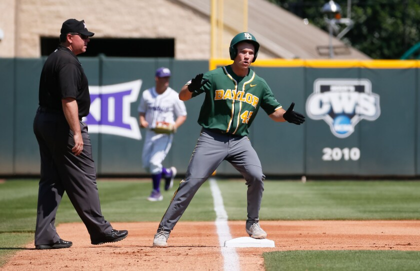 In five games against TCU and Kansas State as a fill-in, Cole Weaver went 5-for-13 drove in five runs, drew six walks and was spectacular in the field.