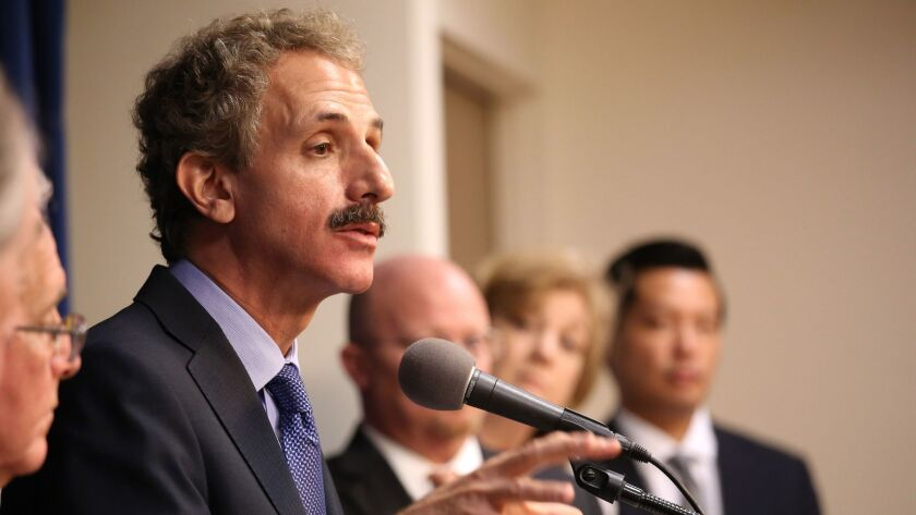 LOS ANGELES CA SEPTEMBER 8, 2016 -- Los Angeles City Attorney Mike Feuer held a press conference to