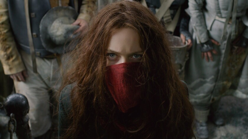 "Hera Hilmar as Hester Shaw in ""Mortal Engines."" The film is directed by Christian Rivers, and writte"