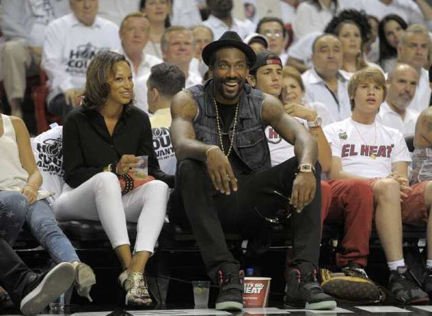 New York Knicks forward Amare Stoudemire watches Game 5 of the NBA Eastern Conference Finals.