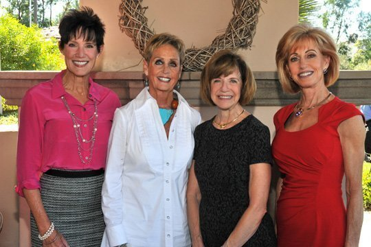 Carol LeBeau, Connie Conard, Rosalie Gerevas and Jan Reital attend the Presentation Tea by Salvation Army Women's Auxiliary to announce 2014-2015 Women of Dedication honorees.
