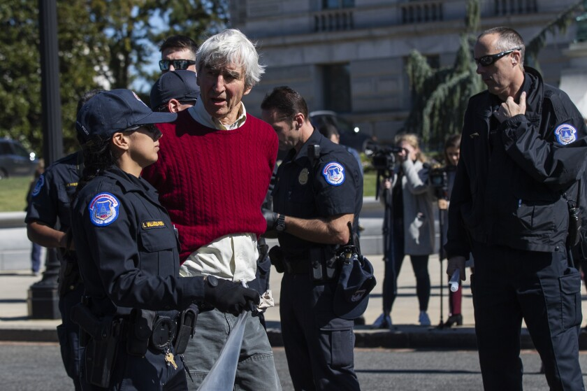 Sam Waterston goes Jane Fonda: Both arrested in D.C. climate change protests