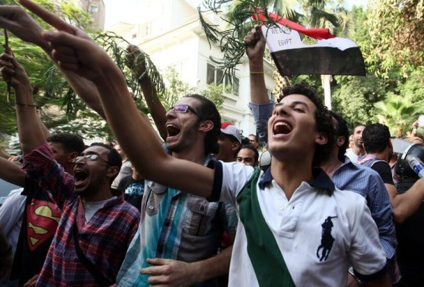 Clashes outside Egyptian ministry of culture