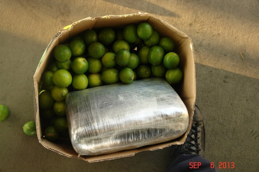 Marijuana was hidden in boxes of limes. /U.S. Customs and