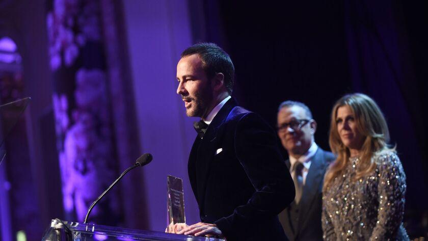 Tom Ford, Tom Hanks and Rita Wilson