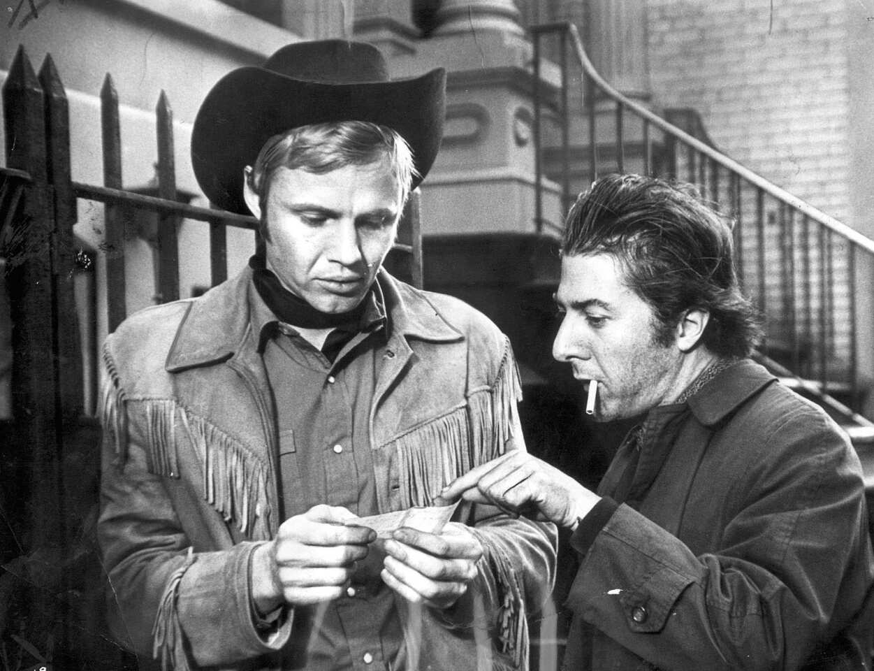 "Box office: $44,785,053 The only X-rated film to win an Academy Award for best picture, John Schlesinger's ""Midnight Cowboy"" (based on James Leo Herlihy's novel) starred then-newcomer Jon Voight, left, as a prostitute in New York City and Dustin Hoffman as his friend, an ailing thief. ""We felt the X rating was the correct rating for it,"" the film's producer Jerome Hellman told the L.A. Times in 1992. ""X in those days did not mean pornography."" After ""Midnight Cowboy"" won three Oscars (and was nominated for four more), it was re-rated R. ""The great thing about 'Midnight Cowboy' is that we didn't question what we were doing,"" Schlesinger told the Philadelphia Inquirer when the film was re-released in 1994. ""We just did it with a total feeling of confidence and freedom. We didn't think, 'Oh, we're being very groundbreaking on this.' I just made the film the way I wanted to."" MORE: 'Midnight Cowboy' and the very dark horse its makers rode in on 