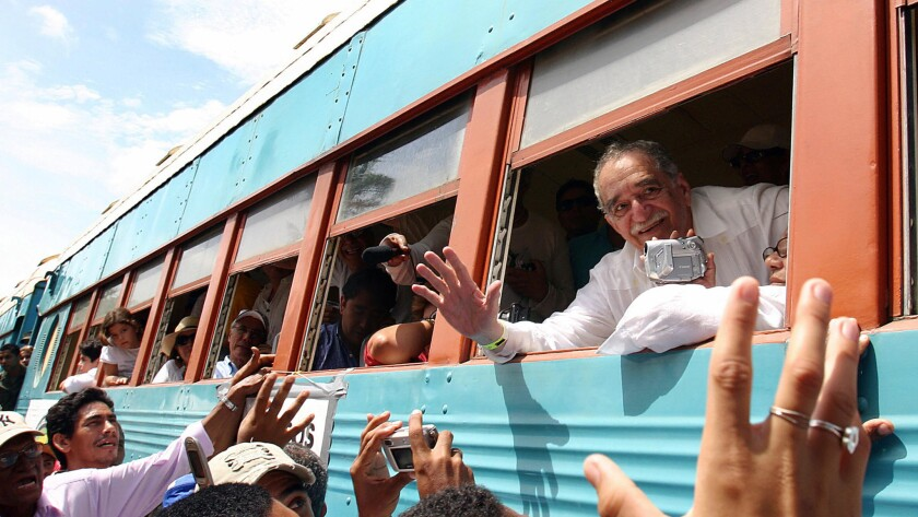 Gabriel Garcia Marquez arrives in Aracataca in 2007 after a 25-year absence