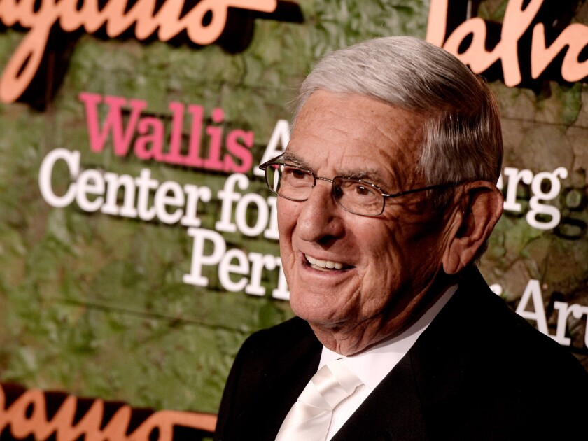 The foundation funded by philanthropist Eli Broad is working on a plan to rapidly expand charter schools in Los Angeles. A draft obtained by The Times put the goal at 50% of public school student enrollment.