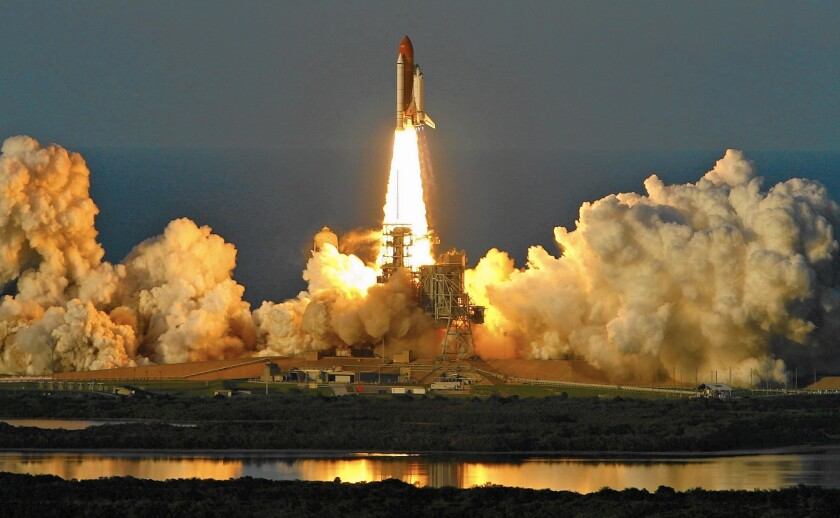 The Space Shuttle Atlantis lifts off from launch pad 39A on its way to the International Space Station on June 8, 2007, from Kennedy Space Center in Cape Canaveral Florida.