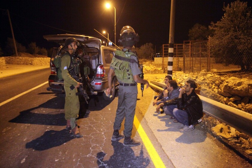Israeli security forces and Palestinians