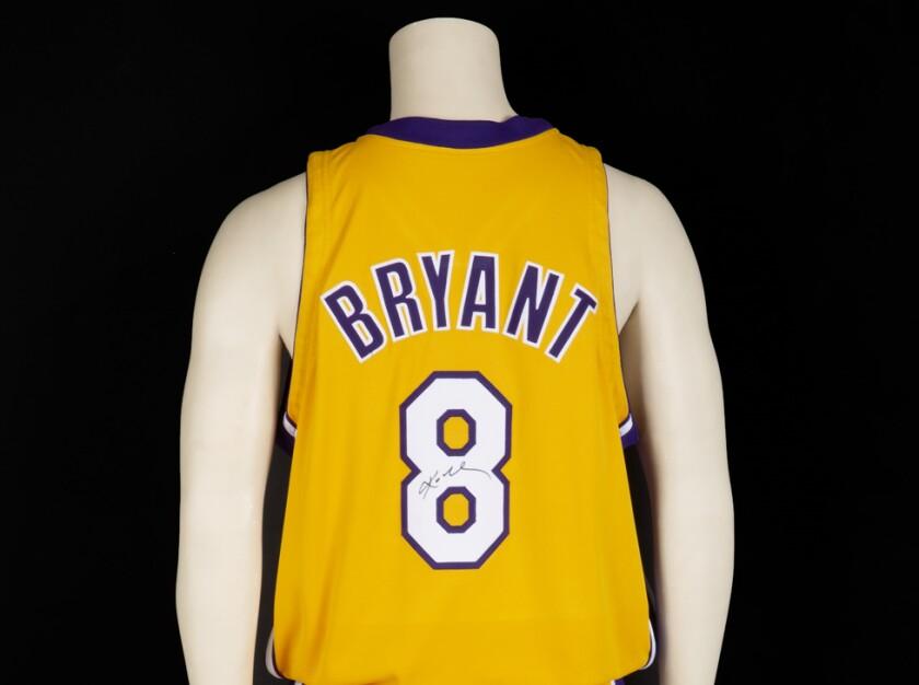 Kobe Bryant game-worn jersey