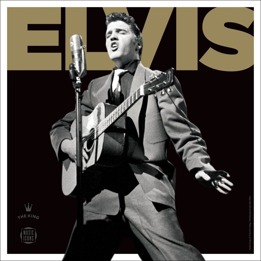 """This CD cover image released by the United States Postal Service shows """"Elvis Presley Forever,"""" a greatest hits CD, to go along with a new commemorative stamp."""