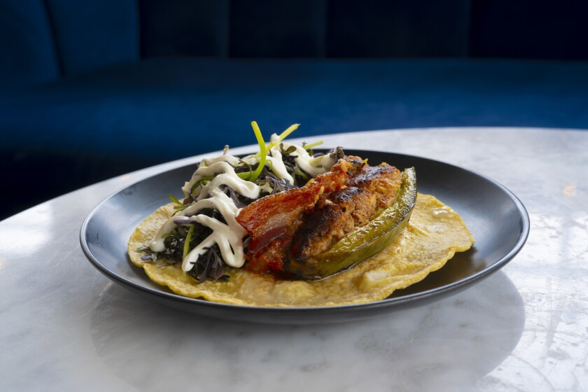 smoked fish taco