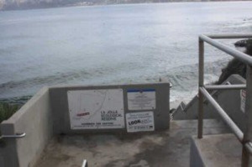 Wildcoast is working to improve the signage explaining Marine Protected Areas, like this one at the La Jolla Cove.