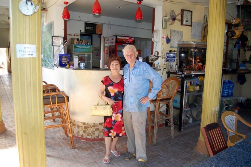 Ken Horsfall and his wife, Nguyen Thi Lieu, run the Oasis Hotel in Ben Tre, Vietnam.