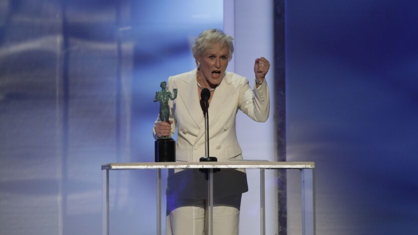 LOS ANGELES, CA - January 27, 2019- Glenn Close accepts Outstanding Performance by a Female Actor in