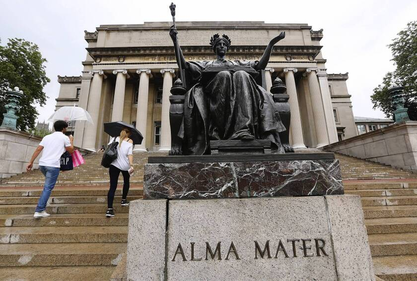 The Columbia University campus. A stalemate in Congress boosted interest rates on student loans to 6.8% as of July 1.