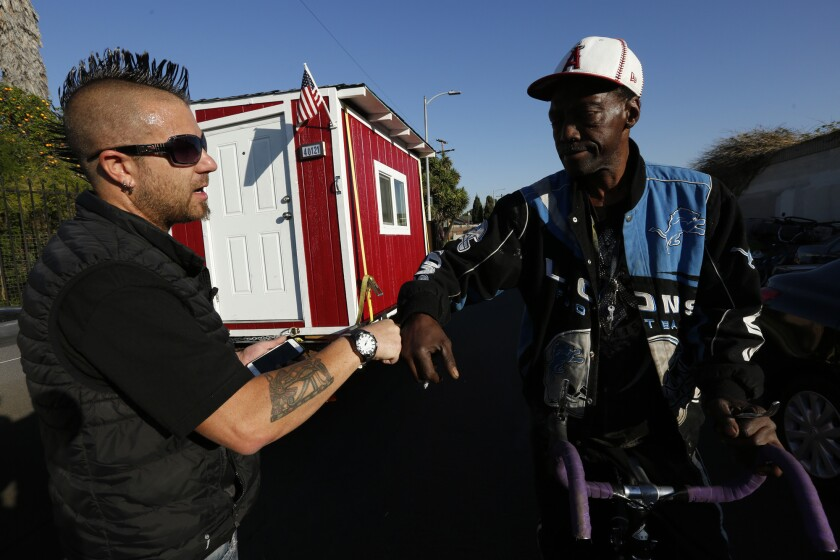 Tiny houses for homeless people