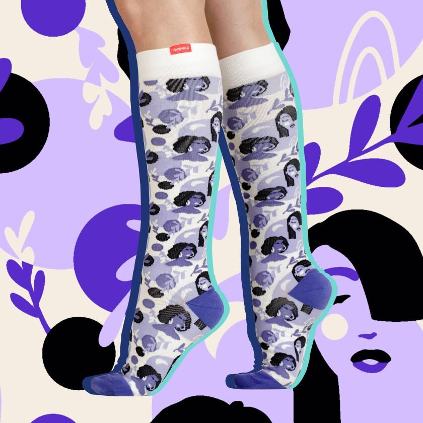 Vim & Vigr Purple Reign Socks.
