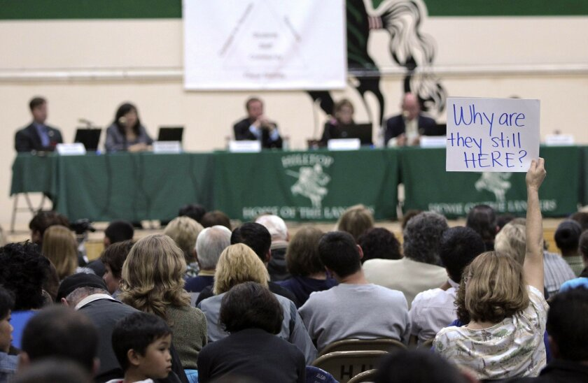 Sweetwater board meetings have often drawn an involved electorate, especially since allegations against school board members became known. [U-T file]