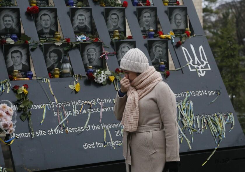 APTOPIX Ukraine Maidan Anniversary