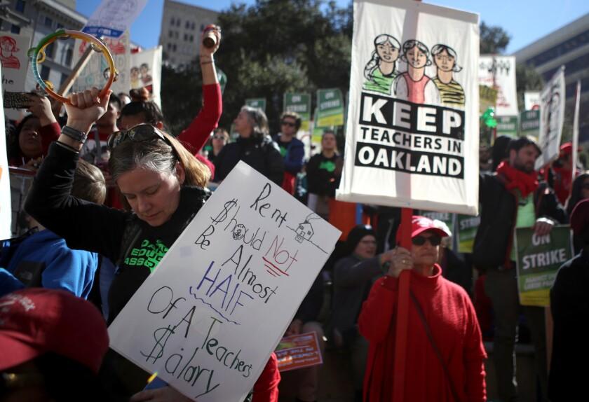 Oakland Teachers Go On Strike