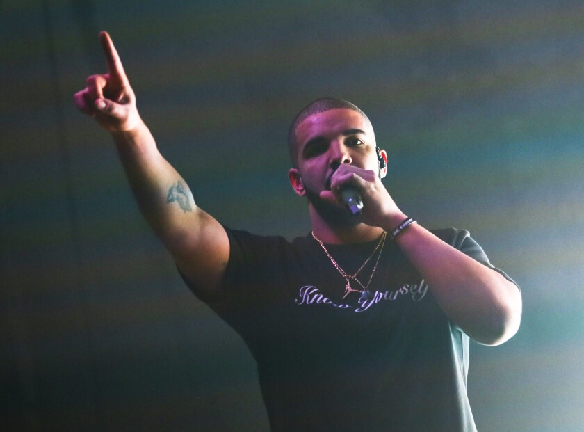 Drake performs at the South by Southwest Music Festival on March 19 in Austin, Texas.