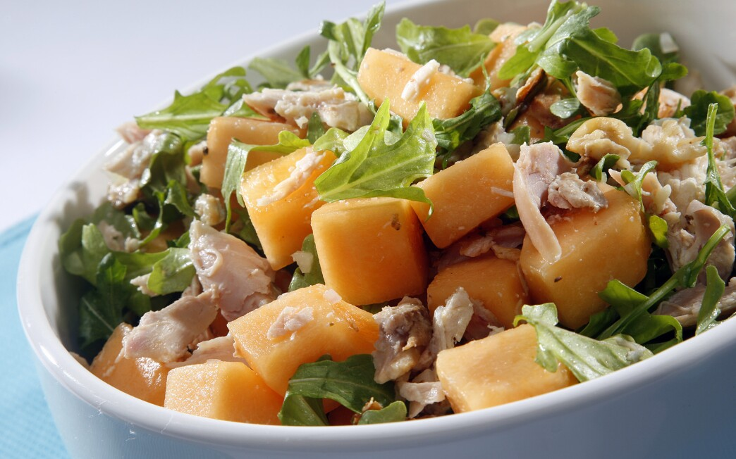 Smoked chicken and cantaloupe salad