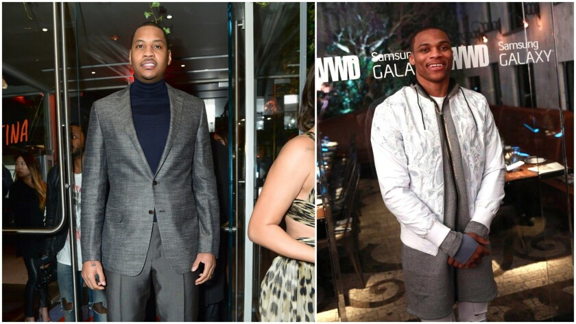 Carmelo Anthony and Russell Westbrook