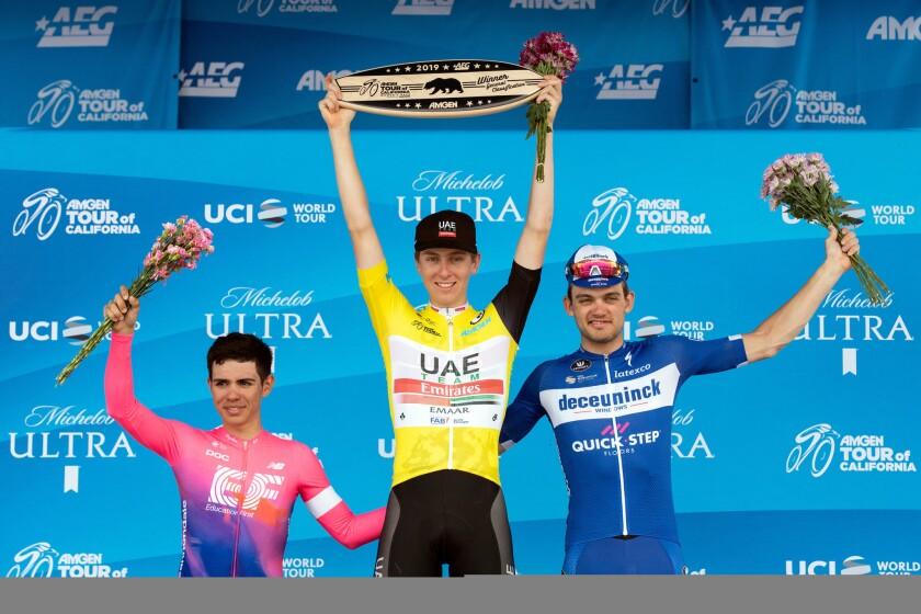Tour of California podium