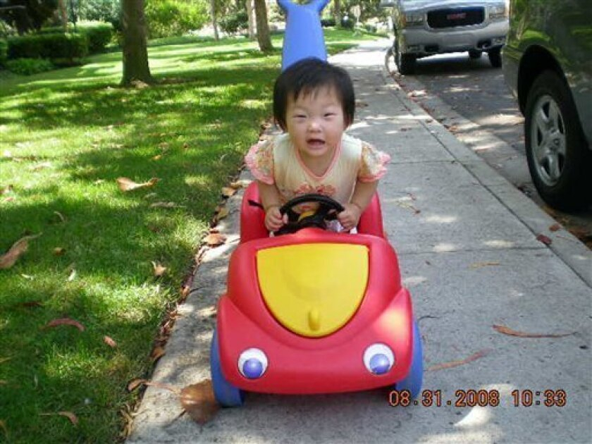 This photo provided by her father Dong Yun Yoon, shows Grace Yoon, 14 months old. (AP Photo/Courtesy of Dong Yun Yoon)