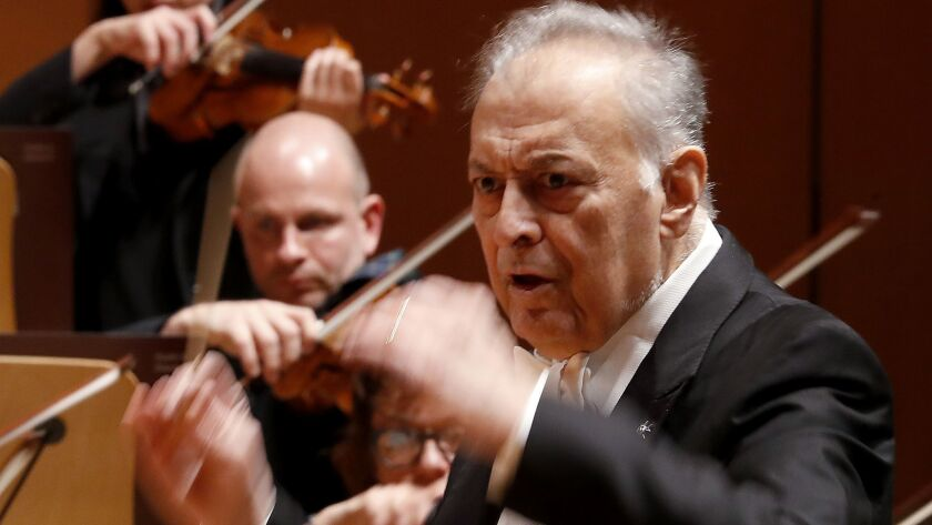 LOS ANGELES, CALIF. - DEC. 13, 2018. Zubin Mehta, former music director of the L.A. Phil and the