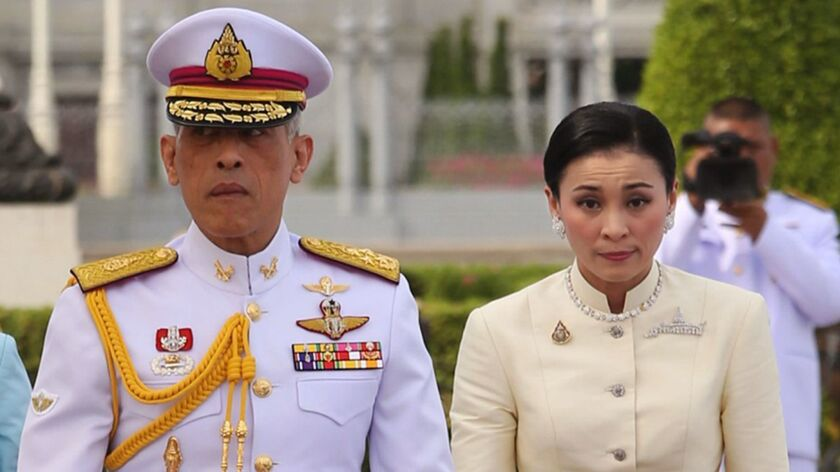 Thai King Rama X and Queen Suthida Pay Homage to King Rama V, Bangkok, Thailand - 02 May 2019